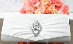 Wedding Clutch Wedding Purse Bridal Clutch by goddessdesignsgems, $52.00