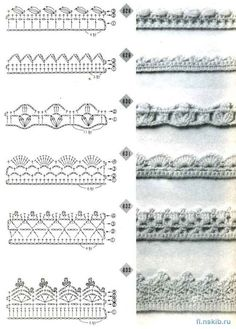 Crochet edging #50 ♥LCE♥ with diagram