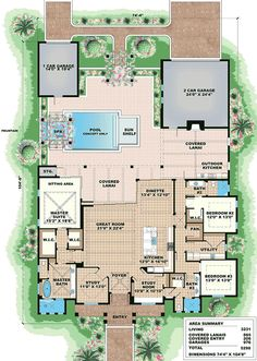 Tropical Vibe - 66336WE | Beach, Florida, Southern, 1st Floor Master Suite, Butler Walk-in Pantry, CAD Available, Den-Office-Library-Study, PDF, Split Bedrooms | Architectural Designs