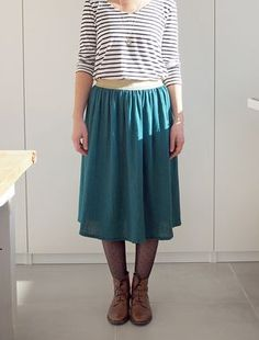 Diy Jupe Midi, Midi Skirt, Diy Vetement, Dressmaking, Sewing, My Style, Skirts, Quelques Photos, Inspiration