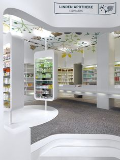 225 Linden Apotheke Interior Design by Ippolito Fleitz Group look at that ceiling!