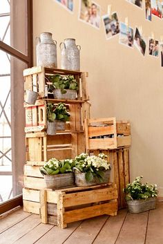 Rustic Wooden Crates Wedding Ideas ❤ See more: http://www.weddingforward.com/wooden-crates-wedding-ideas/ #weddingforward #bride #bridal #wedding