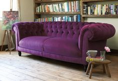 I stumbled across my dream sofa yesterday. This, but in a dark green velvet. Perfect.