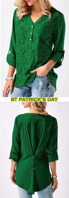 trendy tops for women online on sale Stylish Outfits, Fashion Outfits, St Patrick's Day Outfit, Trendy Tops For Women, Green Blouse, Couture, Casual Dresses, Clothes For Women, My Style