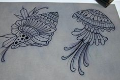 #muetattooer #schweresee #stendal #jellyfish #shell #tattoos #tattoo #tattooart #germantattooers #muscheln #drawing #sketch