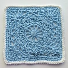"""Ravelry: Spokes and Petals 8"""" Square pattern by Kimberly Saunders"""