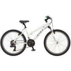 "GT Girls' Lola 24"" Mountain Bike, White"