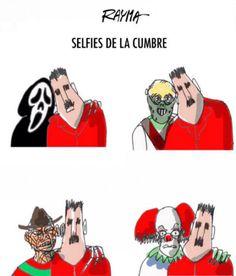 Rayma: Selfies de la Cumbre #MNOAL https://shar.es/1xuFQO #Venezuela #Caricatura