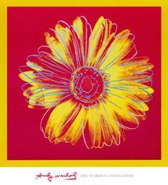 Daisy, c. 1982 (Fuchsia and Yellow) Art Block by Andy Warhol by McGaw Graphics at Gilt Andy Warhol Prints, Andy Warhol Pop Art, Warhol Paintings, Pittsburgh, Yellow Art, Mellow Yellow, Pink Yellow, Edward Hopper, Mondrian