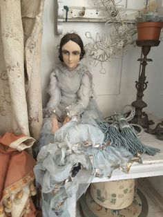 Image result for antique boudoir dolls
