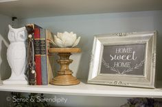 Styling a shelf or even a bookcase can be pretty intimidating if you haven't done it, but it's not hard to do once you get the hang of it. Pile Of Books, Bookcase Styling, Living Room Shelves, Triangle Pattern, Vintage Books, Serendipity, Accent Colors, Candlesticks, Free Printables