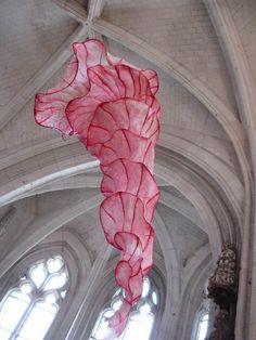 Peter Gentenaar's exquisite sculptures are made from paper pulp and bamboo.
