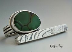 Silver Ring Turquoise Ring Statement Ring Turquoise by LjBjewelry