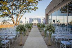 Infinity Hall decorado para a cerimônia - Ana Flavia Azeredo e Nelson Siqueira Neto