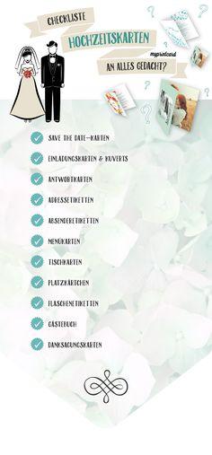 Die Checkliste für den Text auf der Hochzeitseinladung