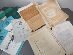 Vintage Long Island Police Department Memos Letters Correspondence Papers. #vintage #LI #long #island #police #department #memos #papers #correspondence #3rd #precinct #cops #officer