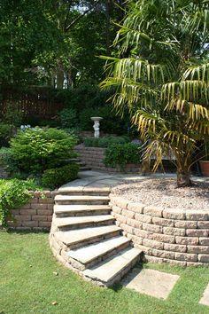Sloping Garden #Design #Ideas . Solution to create small sloping #garden design…