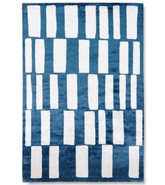 Rhythm and Blues Carini Lang silk rug