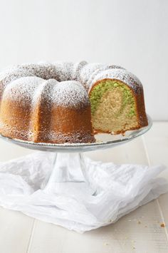 Pistachio Vanilla Butter Bundt Cake | Sugary & Buttery