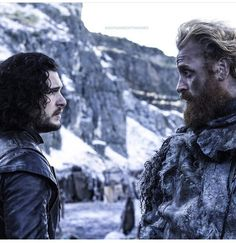 Tormund Giantsbane and Jon Snow. the ultimate duo