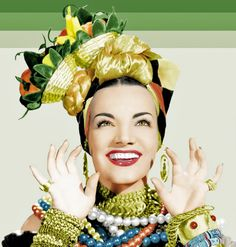 an stupefying list of pictures of Carmen Miranda. Carmen Miranda was born Maria do Carmo Miranda da Cunha in Várzea da Ovelha e Aliviada, a village in the northern Portuguese municipality of Marco de Canaveses. Vote for the best Miranda photo. Golden Age Of Hollywood, Hollywood Glamour, Hollywood Stars, Classic Hollywood, Old Hollywood, Hollywood Icons, Christina Aguilera, Aaliyah, Carmen Miranda Kostüm