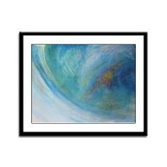 Abstract Expression Sea Foam Serenity Framed Panel> CARDS, POSTERS & PRINTS> 22FISH22 graphics and fine art
