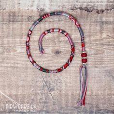 STONE HEART Tribal Hairwrap - String hair extension - Cotton hair wraps - Made to order braid - Clip Bohemian Hairstyles, Loose Hairstyles, Braided Hairstyles, Simple Hairstyles, Red Hair Extensions, Hair Threading, Dread Wraps, Handmade Chandelier, Braid Clips