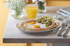 Israeli breakfast at Cafe Landwer