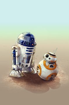 R2 and BB-8 Artist Unknown