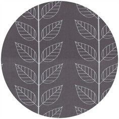 V & Co, Simply Color, Leafy Stripe Graphite Grey