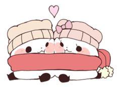 Yururin panda winter ver. – LINE Stickers   LINE STORE Panda Funny, Cartoon Panda, Panda Love, Panda Bear, Cute Animal Drawings, Cute Drawings, Anime Chibi, Kawaii Anime, Panda Kawaii