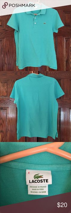 Lacoste Teal Polo Shirt Beautiful teal green polo shirt. Imported made in France. Size Lacoste 4. In great condition with no damage. Comes from a pet and smoke free home. OFFERS WELCOME 🌼 Lacoste Shirts & Tops Polos