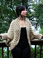 Crocodile Stitch Cardigan crochet pattern download from www.AnniesCatalog.com. Order here: http://www.anniescatalog.com/detail.html?prod_id=107004&cat_id=1170