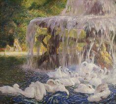 Gaston La Touche - The Swans at Play