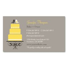 Birds and Cake Business Card