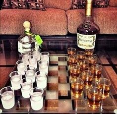 checkers w/ liquor Pool Full Of Liquor, Big Boy Games, Strong Drinks, My Bar, Drinking Games, Non Alcoholic, Game Night, Summer Drinks, House Party