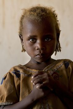 A young girl in Djabal refugee camp