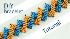 Pulsera en Macrame - Double Zig-Zag Bracelet Tutorial ////////