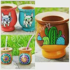 Paper Mache Bowls, Paper Mache Crafts, Painted Flower Pots, Painted Pots, Mexican Artwork, Flower Pot Art, Ideias Diy, Terracotta Pots, Clay Pots