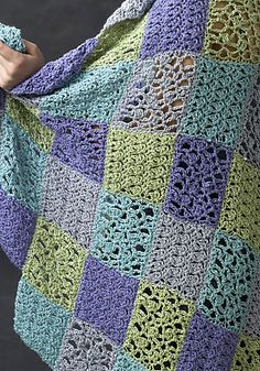 Crocheted in just two different pattern stitches, the magnificent Sochi Throw is all about color placement and simple, fun-to-crochet stitch patterns. Designer Randy Cavaliere chose soft, summery colors of NaturallyCaron.com Country. Try using your favorite deep colors of Country for a fall look.