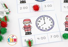 Christmas Time Clip Cards - The Stem Laboratory