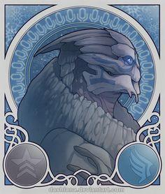 Garrus's Winter by *Dashiana on deviantART