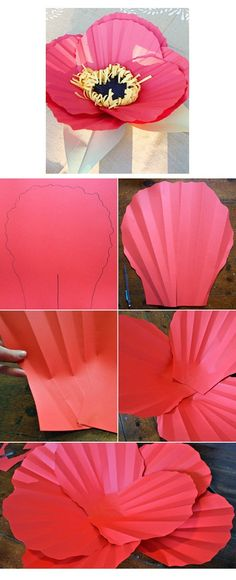 Love this! I just might have to make me one! #paper #poppy Would look lovely on top of a gift!