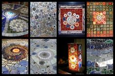 Ceramic Ideas For Beginners | How to Mosaic, using handmade ceramic mosaic inserts or re ...