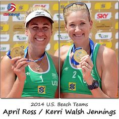 Beach volleyball partners for 2014: April Ross and Kerri Walsh Jennings
