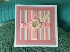 Cute gift card with crochet flower embellishment
