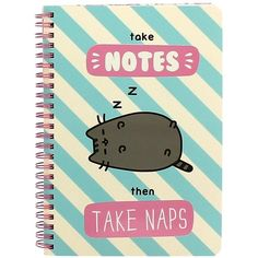 Pusheen Ringbinder &Amp; A5 Notebook ($17) ❤ liked on Polyvore featuring home, home decor and stationery