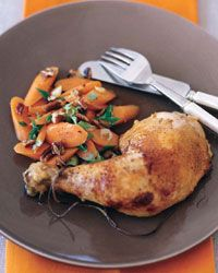 Citrus-and-Ginger-Roasted Chicken - Healthy Main Dishes on Food & Wine Side Dish Recipes, Wine Recipes, Cooking Recipes, Carrot Recipes, Healthy Recipes, Healthy Eats, Weeknight Recipes, Easy Recipes