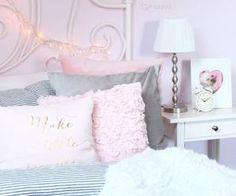 ♡Breakfast at Chloe's♡ Pretty Bedroom, Dream Bedroom, Home Bedroom, Girls Bedroom, Bedroom Decor, Bedroom Ideas, My New Room, My Room, Girl Room