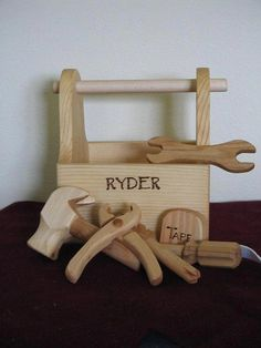 Ready To Go Wood Tool Box Just Right Size Tools by - Geschenke - Woodworking For Kids, Woodworking Toys, Popular Woodworking, Woodworking Projects, Youtube Woodworking, Woodworking Machinery, Woodworking Classes, Woodworking Equipment, Woodworking Furniture